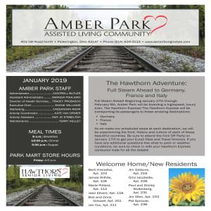 January Amber Park Newsletter