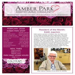 February Amber Park newsletter