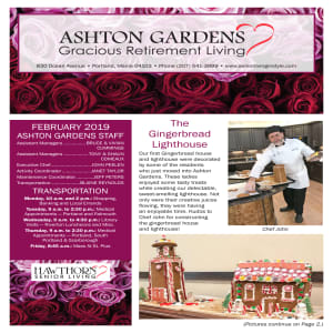 February Ashton Gardens Gracious Retirement Living newsletter