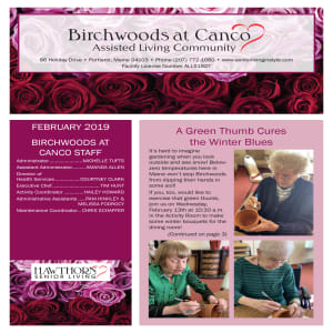 February Birchwoods at Canco Assisted Living newsletter