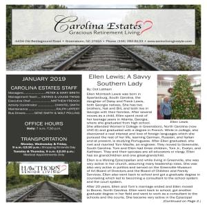 January Carolina Estates Newsletter