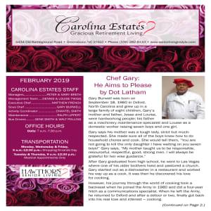 February Carolina Estates newsletter
