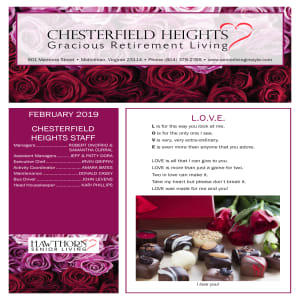February Chesterfield Heights newsletter