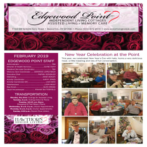 February Edgewood Point Assisted Living newsletter