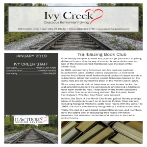 January Ivy Creek Gracious Retirement Living Newsletter