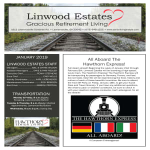 January Linwood Estates Gracious Retirement Living Newsletter