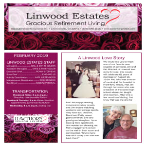 February Linwood Estates Gracious Retirement Living newsletter