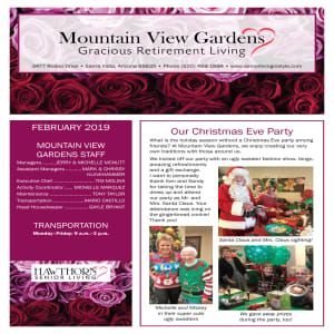 February Mountain View Gardens newsletter