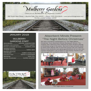 January Mulberry Gardens Assisted Living Newsletter