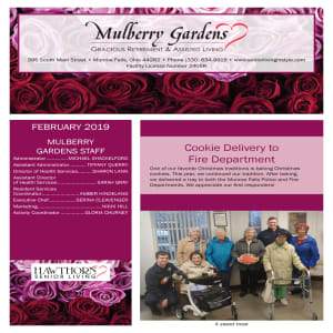 February Mulberry Gardens Assisted Living newsletter