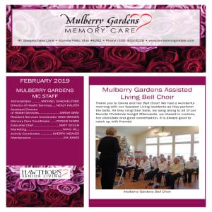 February Mulberry Gardens Memory Care newsletter