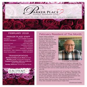 February Parker Place newsletter