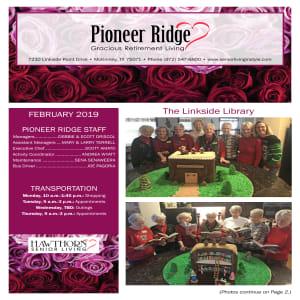 February Pioneer Ridge Gracious Retirement Living newsletter