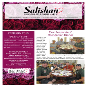 February Salishan Gracious Retirement Living newsletter