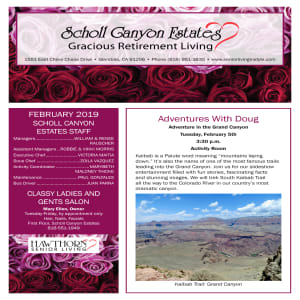 February Scholl Canyon Estates newsletter