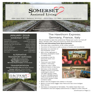 January Somerset Assisted Living Newsletter