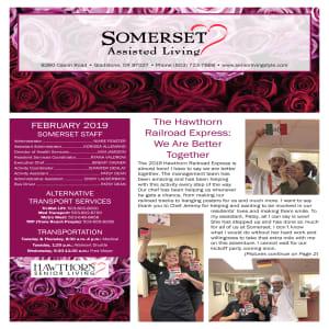 February Somerset Assisted Living newsletter