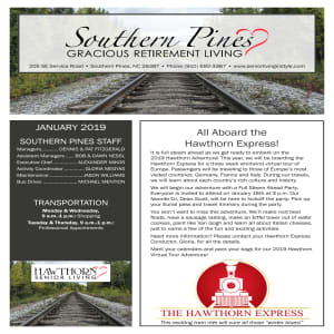January Southern Pines Gracious Retirement Living Newsletter