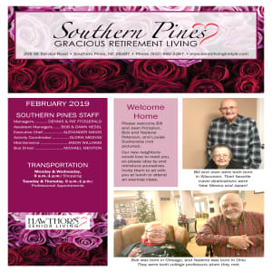 February Southern Pines Gracious Retirement Living newsletter