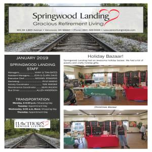 January Springwood Landing Gracious Retirement Living Newsletter
