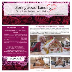 February Springwood Landing Gracious Retirement Living newsletter