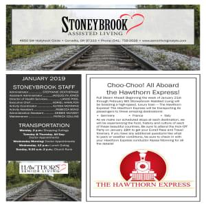 January Stoneybrook Assisted Living Newsletter