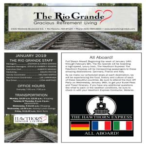 January The Rio Grande Gracious Retirement Living Newsletter