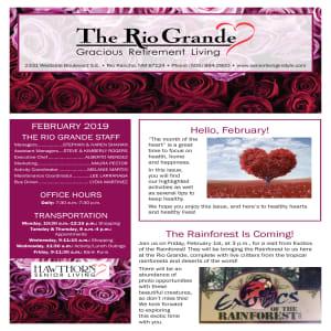 February The Rio Grande Gracious Retirement Living newsletter