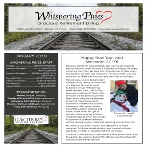 January Whispering Pines Gracious Retirement Living Newsletter