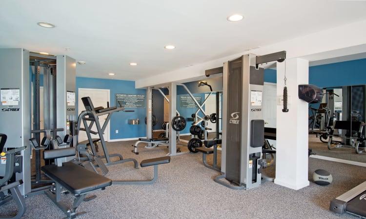 Fitness center at The Reserve at Glenville in Glenville