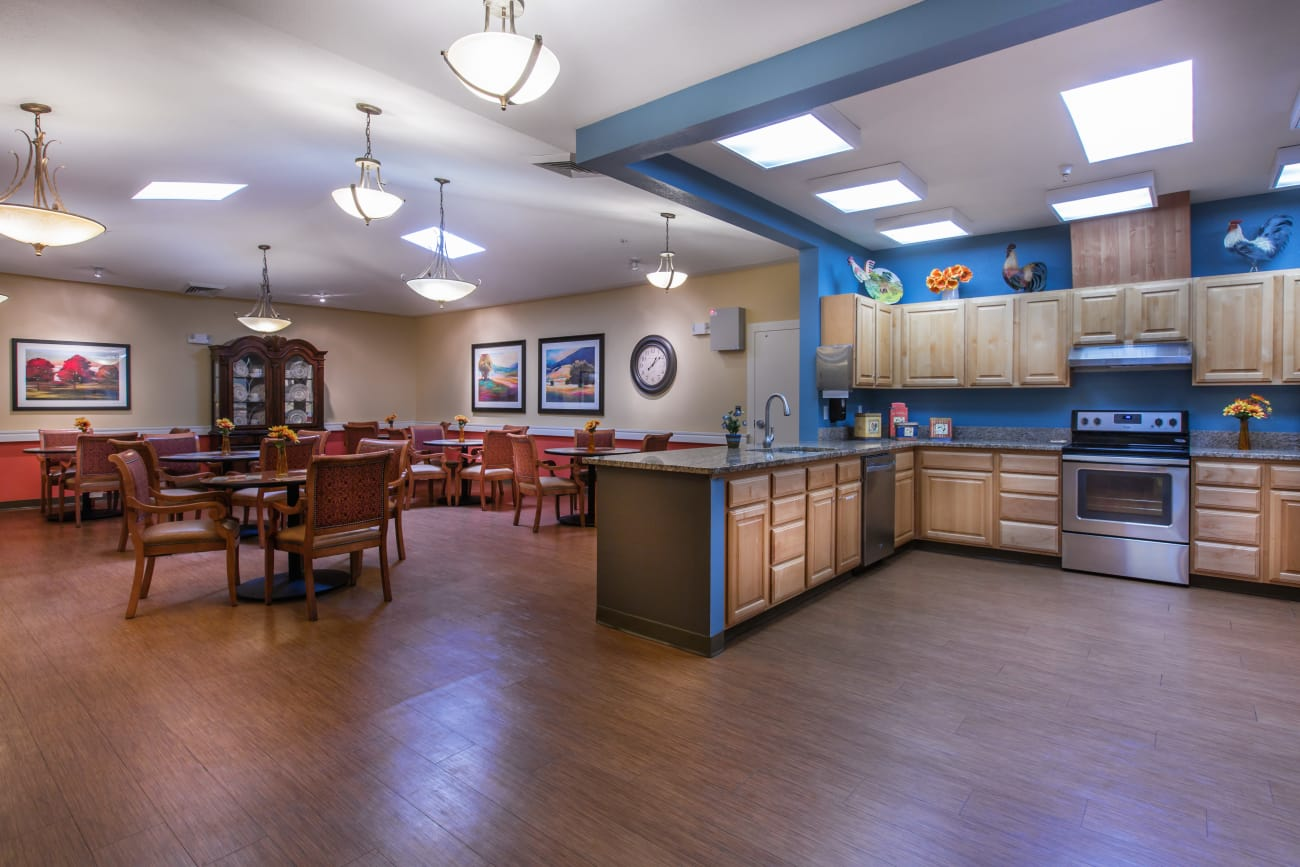 Chancellor Gardens at Clearfield offers a cozy dining area in Clearfield, Utah