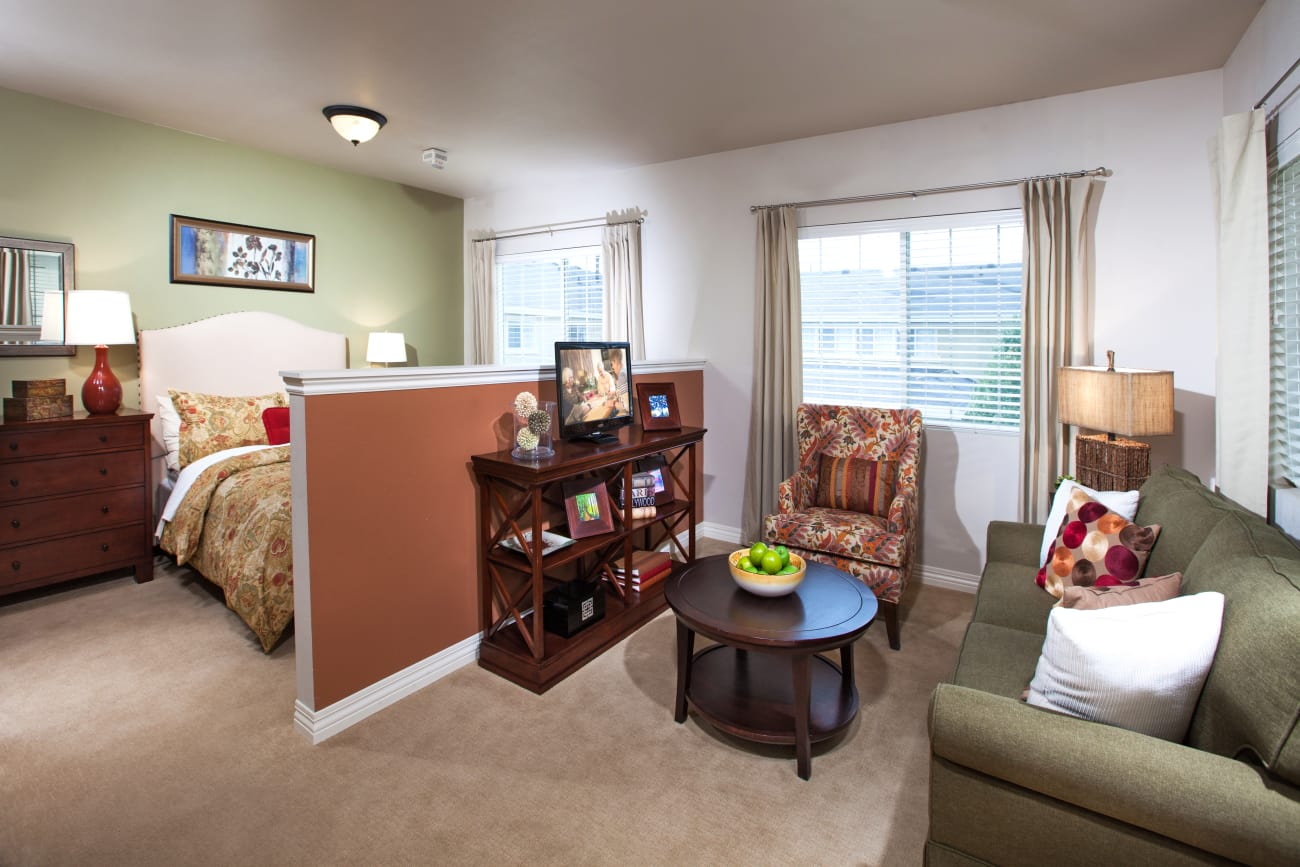 Bedroom at Chancellor Gardens in Clearfield, Utah