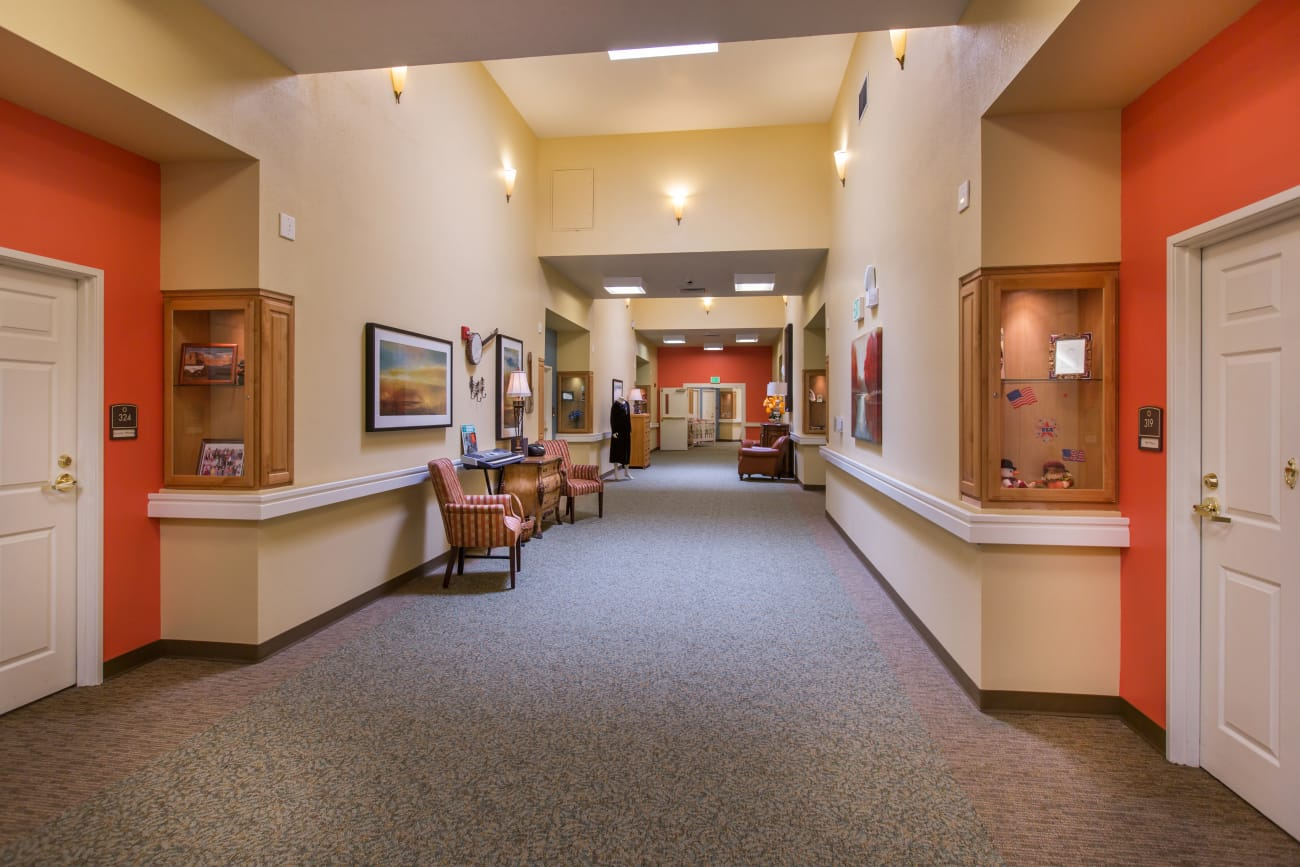 Hallway at Chancellor Gardens in Clearfield, Utah