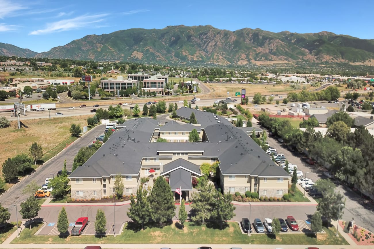 Aerial view at senior living community in Clearfield, Utah