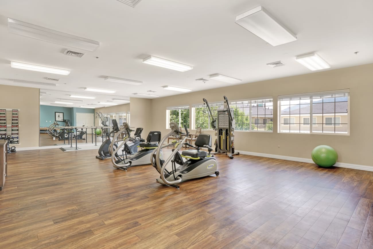 Fitness center at Chancellor Gardens in Clearfield, Utah