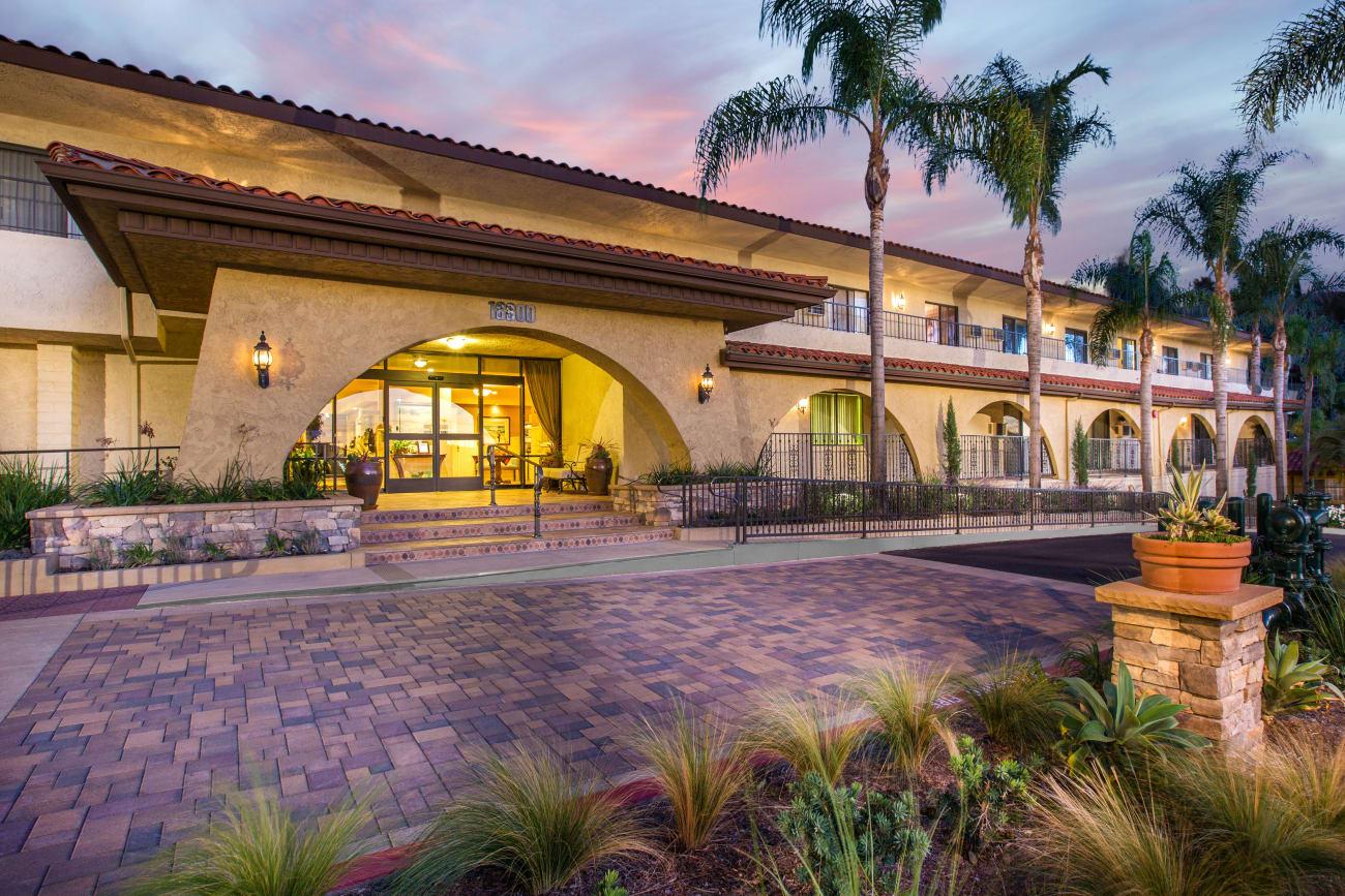 Entrance to Huntington Terrace in Huntington Beach, California
