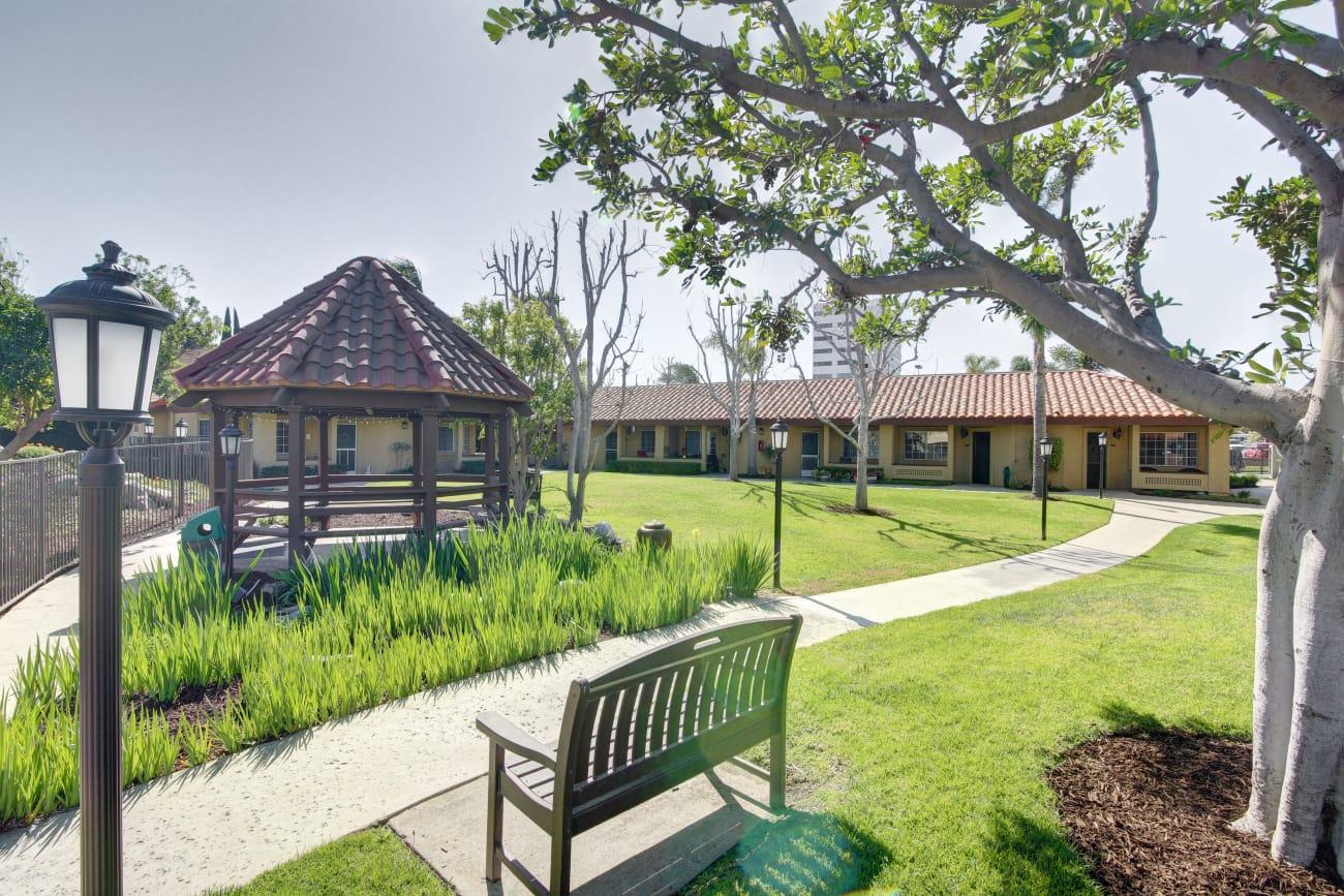 Beautiful pergola at Huntington Terrace in Huntington Beach, California