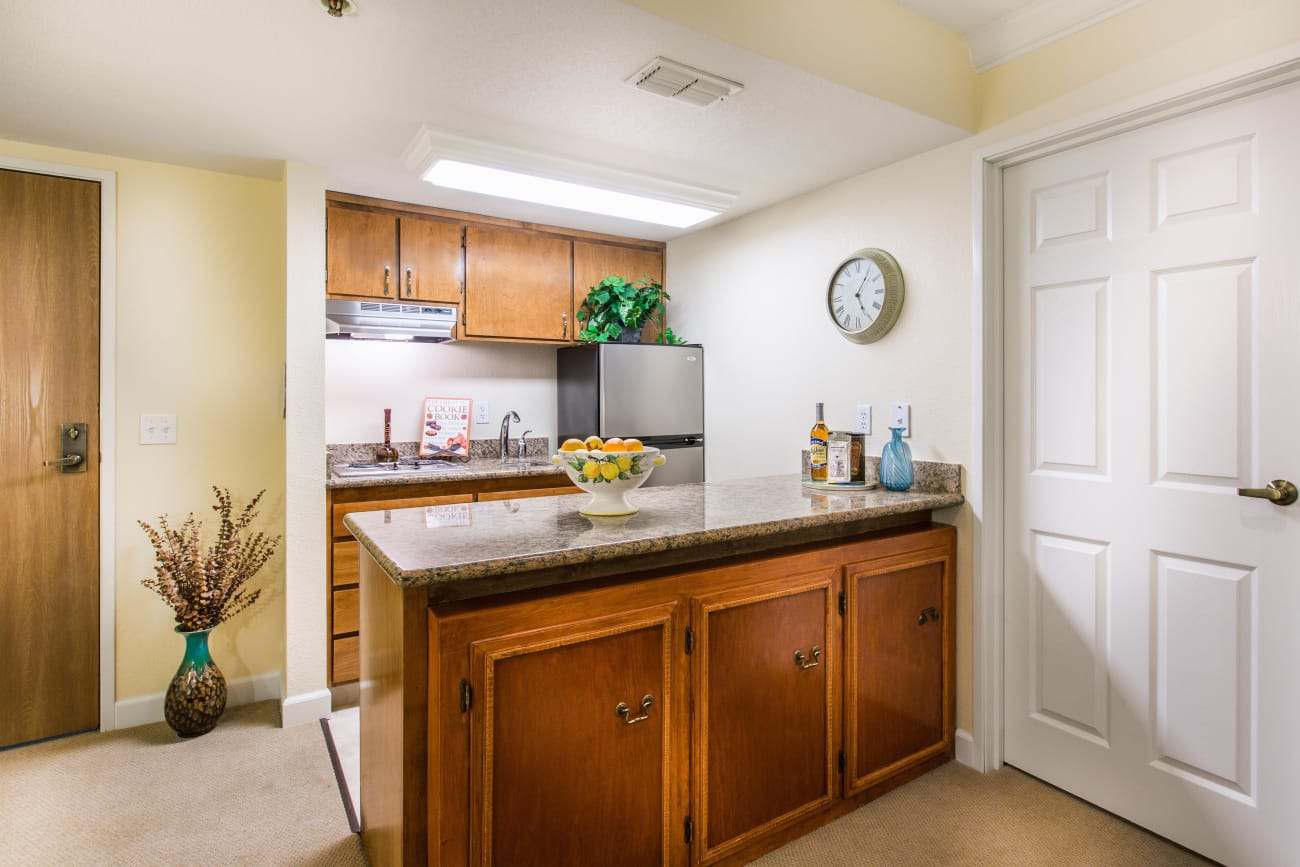 Kitchenette at Oakmont Gardens in Santa Rosa, California