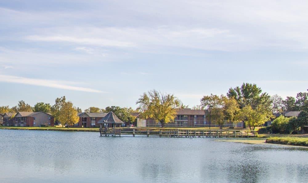 Lake view at Waters Edge in Oklahoma City