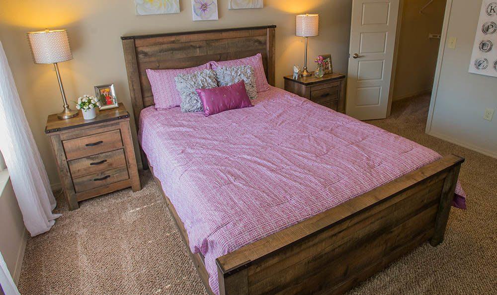 The bedroom at Icon at Broken Arrow