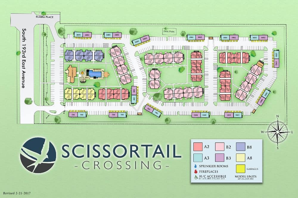 Map of Scissortail Crossing Apartments in Broken Arrow