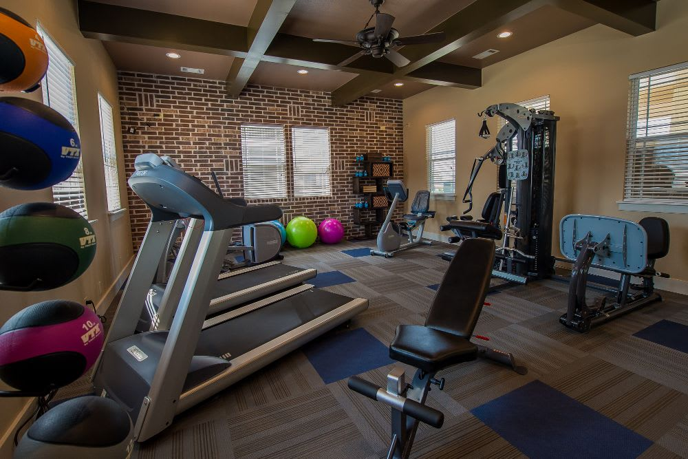 The fitness center is great at Scissortail Crossing Apartments!