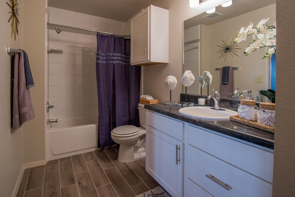 Bathroom at Cottages at Tallgrass Point Apartments