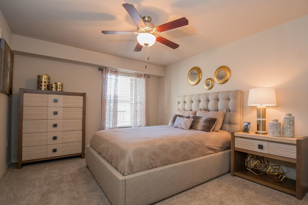 Bedroom at Cottages at Tallgrass Point Apartments