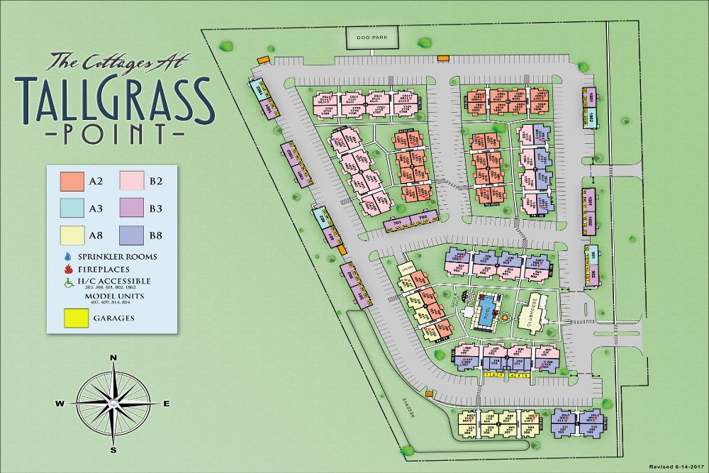 Map of Cottages at Tallgrass Point Apartments