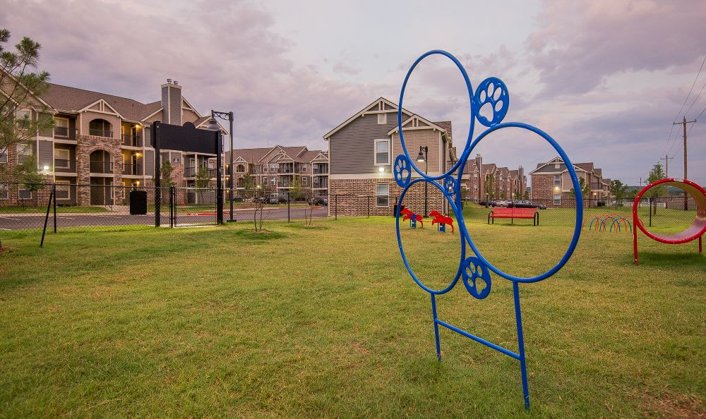Dog Park at Cottages at Abbey Glen Apartments