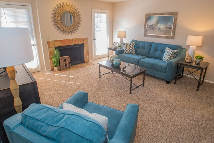 Barcelona Apartments has large living spaces in Tulsa