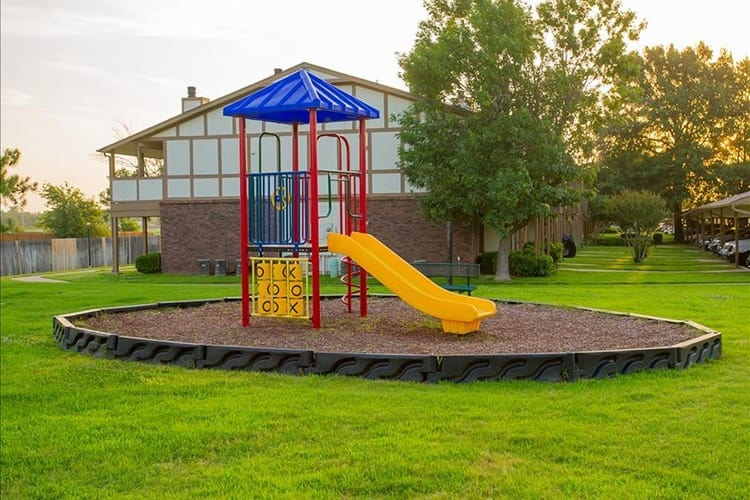 children's playground at apartments in tulsa