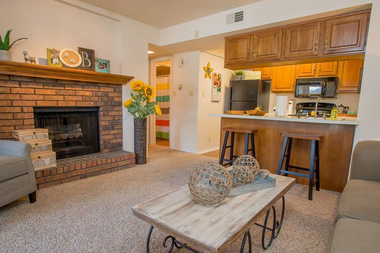tulsa apartments with a wood burning fireplace