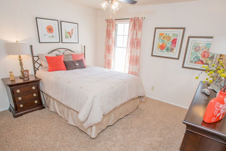 spacious bedroom at tulsa apartments